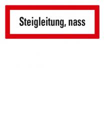 Brandschutzschild Steigleitung, nass für Feuerwehr nach DIN 4066