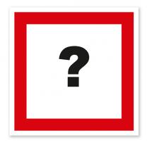 Brandschutzzeichen Individuell - weiß