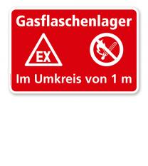 Gasflaschenlager - Explosionsgefahr