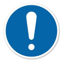 Gebotszeichen - Allgemeines Gebotszeichen nach DIN EN ISO 7010 - M 001