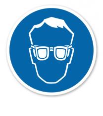 Gebotszeichen Augenschutz benutzen nach DIN 4844-2