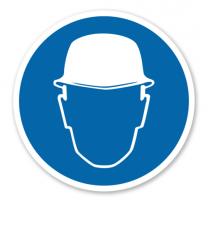 Gebotszeichen Kopfschutz benutzen nach BGV A8 - M 02