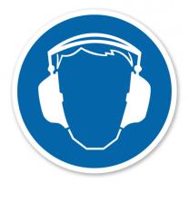 Gebotszeichen Gehörschutz benutzen nach BGV A8 - M 03
