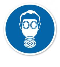 Gebotszeichen Atemschutz benutzen nach BGV A8 - M 04
