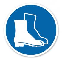 Gebotszeichen Fußschutz benutzen nach BGV A8 - M 05