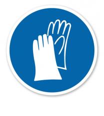 Gebotszeichen Handschutz benutzen nach BGV A8 - M 06