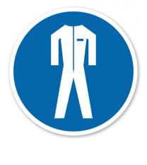 Gebotszeichen Schutzkleidung benutzen nach BGV A8 - M 07