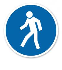 Gebotszeichen Für Fußgänger nach BGV A8 - M 10