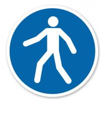 Gebotszeichen Fußgängerweg benutzen nach DIN EN ISO 7010 - M 024