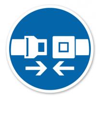 Gebotszeichen Sicherheitsgurt benutzen nach DIN 4844-2