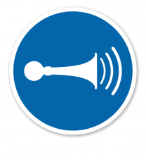 Gebotszeichen Akustisches Signal geben nach DIN EN ISO 7010 - M 029