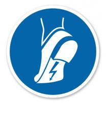 Gebotszeichen Antistatisches Schuhwerk benutzen nach DIN EN ISO 7010 - M 032