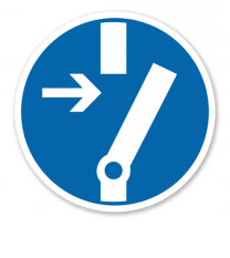 Gebotszeichen Vor Arbeiten freischalten nach DIN 4844-2