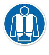 Gebotszeichen Rettungsweste benutzen nach BGV A8 - M 15