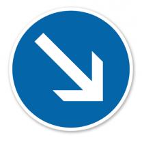 Gebotszeichen Richtungsangabe