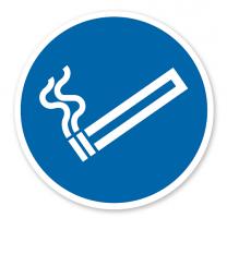 Gebotszeichen - Rauchen gestattet nach DIN EN ISO 7010