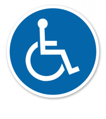 Gebotszeichen Für Rollstuhlfahrer