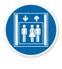 Gebotszeichen Personenaufzug