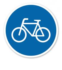 Gebotszeichen Fahrradweg