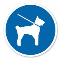 Gebotszeichen Hunde Leinenzwang