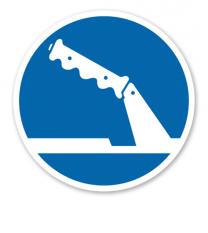 Gebotszeichen Handbremse beim Abstellen benutzen