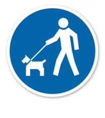 Gebotszeichen Hunde an die Leine