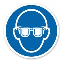 Gebotszeichen Augenschutz benutzen nach DIN EN ISO 7010 - M 004