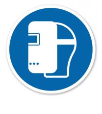 Gebotszeichen Schweißermaske benutzen nach DIN EN ISO 7010 - M 019