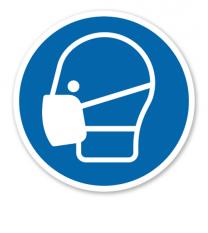 Gebotszeichen Maske benutzen nach DIN EN ISO 7010 - M 016