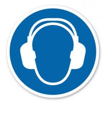 Gebotszeichen Gehörschutz benutzen nach DIN EN ISO 7010 - M 003