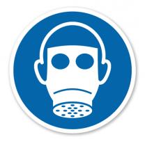 Gebotszeichen Atemschutz benutzen nach DIN EN ISO 7010 - M 017
