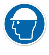 Gebotszeichen Kopfschutz benutzen nach DIN EN ISO 7010 - M 014