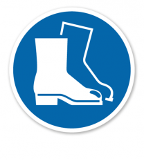 Gebotszeichen Fußschutz benutzen nach DIN EN ISO 7010 - M 008