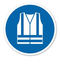 Gebotszeichen Warnweste benutzen nach DIN EN ISO 7010 - M 015