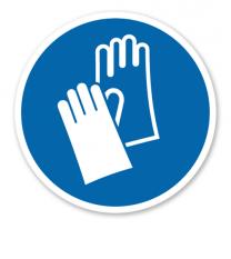 Gebotszeichen Handschutz benutzen nach DIN EN ISO 7010 - M 009