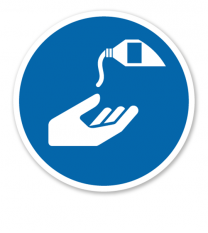 Gebotszeichen Hautschutzmittel benutzen nach DIN EN ISO 7010 - M 022