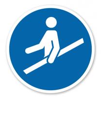 Gebotszeichen Handlauf benutzen nach DIN EN ISO 7010 - M 012