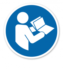 Gebotszeichen Anleitung beachten nach DIN EN ISO 7010 - M 002