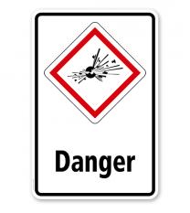 GHS - Schild Danger, explosiv, instabil