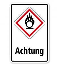 GHS - Schild Achtung, entzündend