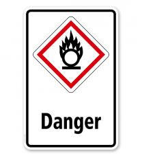 GHS - Schild Danger, entzündend