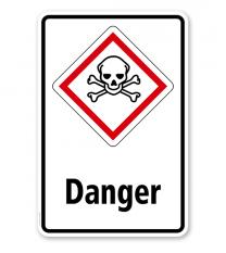 GHS - Schild Danger, giftig