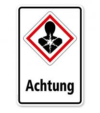 GHS - Schild Achtung, Gesundheitsgefahr
