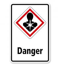 GHS - Schild Danger, Gesundheitsgefahr