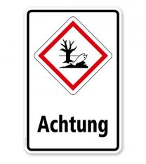 GHS - Schild Achtung, Umwelt