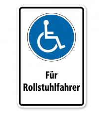 Gebotsschild Für Rollstuhlfahrer / Behinderte