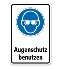 Gebotsschild Augenschutz benutzen nach DIN EN ISO 7010
