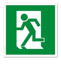 Rettungszeichen Fluchtrichtung / Notausgang links (alte Norm)