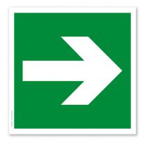 Rettungszeichen Richtungsangabe links / rechts (alte Norm)