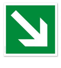 Rettungszeichen Richtungsangabe diagonal (alte Norm)